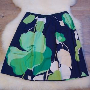 2/$15 Talbots Flower Pleated Cotton Mini Skirt